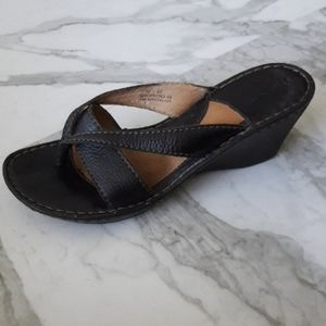 Born All Leather Wedge Sandal